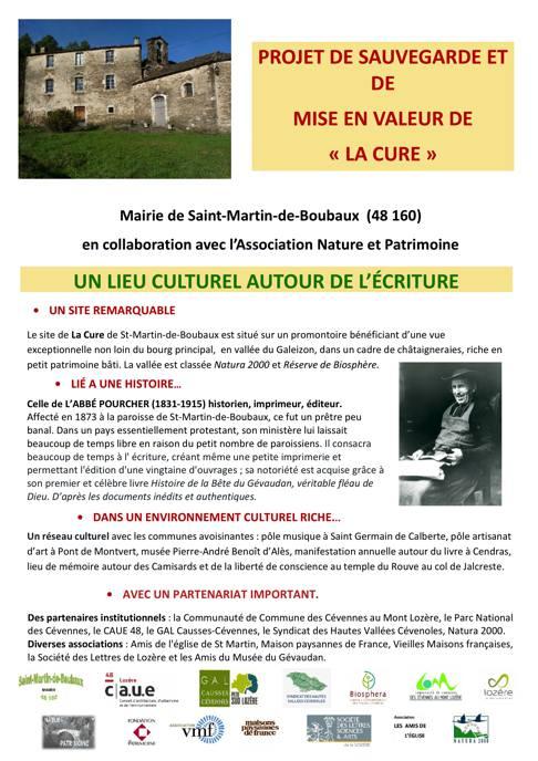 Flyer projet La Cure 1